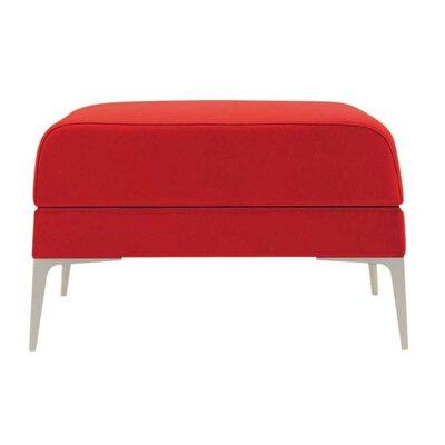 Hi Omega Ottoman Upholstery: Momentum Fuse Fabric Cress, Upholstery: Chrome