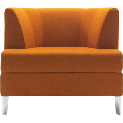 Cosy Lounge Chair Finish: Chrome, Upholstery: Momentum Fuse Fabric Walnut