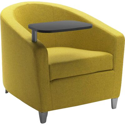 Playful Barrel Chair Upholstery: Powder Coat Aluminum, Upholstery: Momentum Beeline Vinyl Walnut