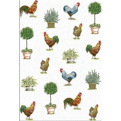 Mierco Rooster Pots Print Tea Towel (Set of 2)