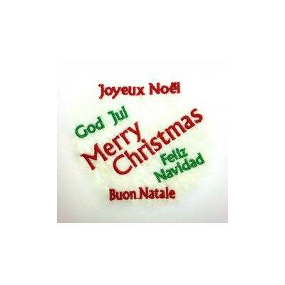 Merry Christmas Embroidered Tea Towel