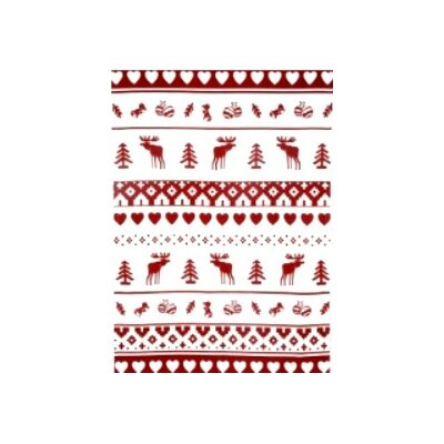 Nordic Christmas Print Tea Towel