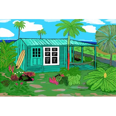 'Hawaii Cottage' by Maggie McFarland Painting Print on Wrapped Canvas 001