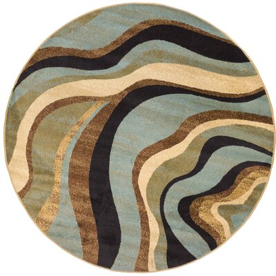 Barclay Nirvana Waves Area Rug Rug Size: Round 53