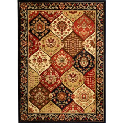 Barclay Wentworth Panel Navy Area Rug Rug Size: 710 x 910