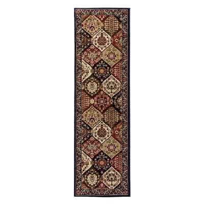 Barclay Wentworth Panel Navy Area Rug Rug Size: Runner 23 x 73