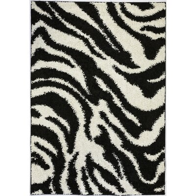 Madison Shag Black Safari Area Rug Rug Size: 5 x 72