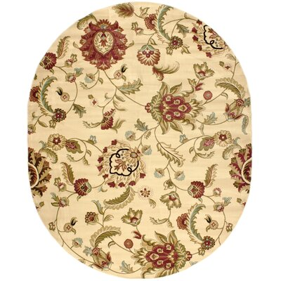 Barclay Ashley Oriental Area Rug Rug Size: Oval 710 x 910