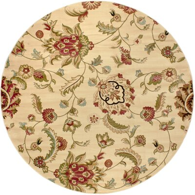 Barclay Ashley Oriental Area Rug Rug Size: Round 710