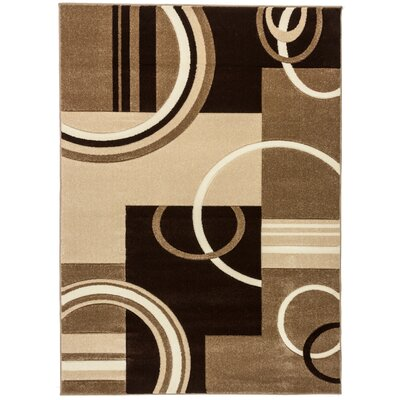 Ruby Galaxy Waves Contemporary Area Rug Rug Size: 53 x 73