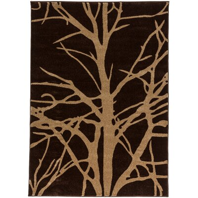 Ruby Tree Branches Contemporary Rug Rug Size: 33 x 73