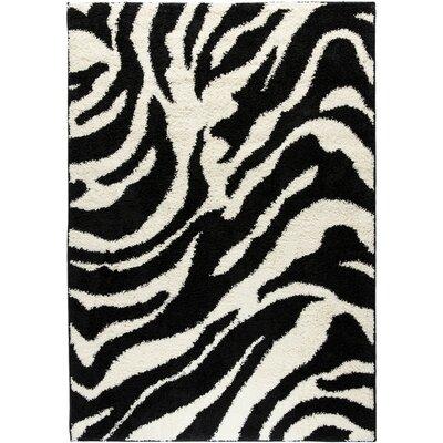 Madison Shag Black Safari Area Rug Rug Size: 33 x 53