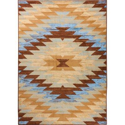 Aiden Southwestern Blue Area Rug Rug Size: 82 x 910