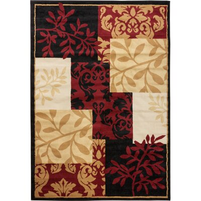 Rae Fall Espresso & Brown Area Rug Rug Size: 53 x 73