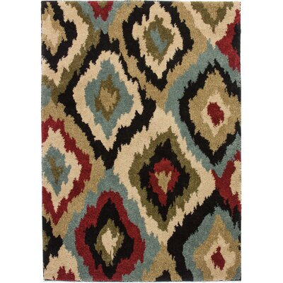 Avenue Bliss Ikat Ivory Area Rug Rug Size: Rectangle 5 x 7