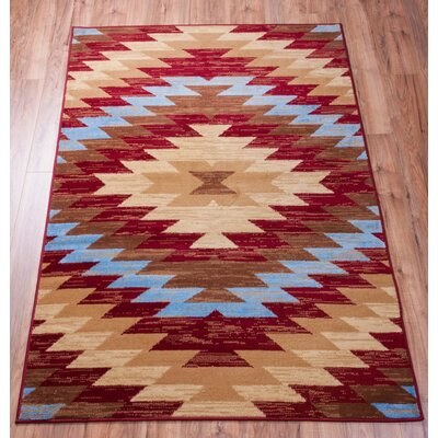 Binstead Southwestern Area Rug Rug Size: Rectangle 53 x 73