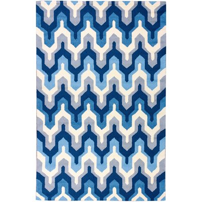Everest Lattice Navy & White Area Rug Rug Size: Rectangle 5 x 76