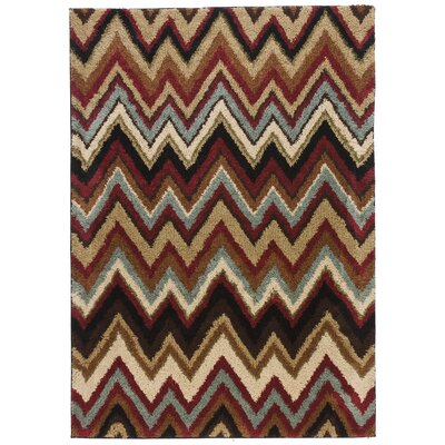 Avenue Chloe Chevron  Black Area Rug Rug Size: 5 x 7