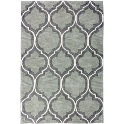 Expressions Wallaby Lattice Tea Green Area Rug Rug Size: Rectangle 5 x 76