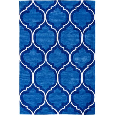 Expressions Wallaby Lattice True Blue Area Rug Rug Size: 76 x 96