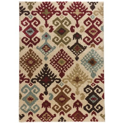 Avenue Dreamsworth Ikat Ivory Area Rug Rug Size: 5 x 7