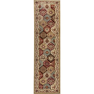 Barclay Wentworth Panel Traditional Ivory Area Rug