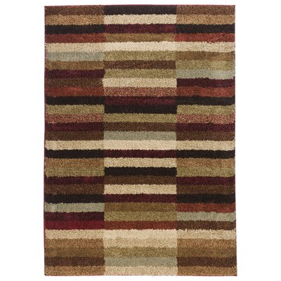 Avenue Sunset Lounge Red Area Rug Rug Size: 5 x 7