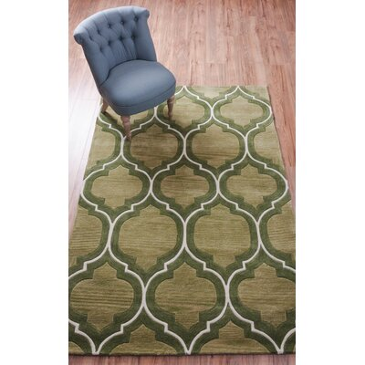 Expressions Wallaby Lattice Oasis Green Area Rug Rug Size: 36 x 56