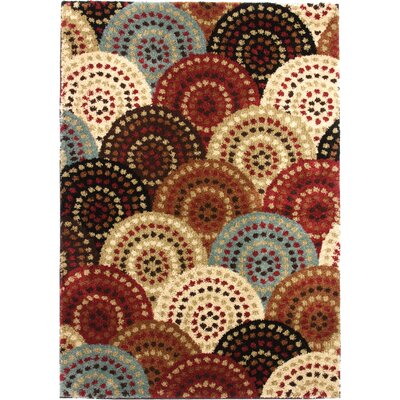 Avenue Circles and Circles Multi Area Rug Rug Size: Rectangle 67 x 93