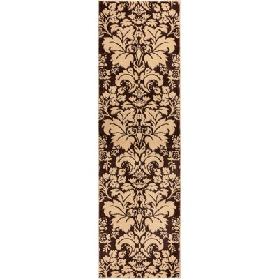 Sydney Damask Toile Brown Area Rug Rug Size: Runner 23 x 73