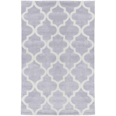 Mirage Lattice Grey Area Rug Rug Size: 36 x 56