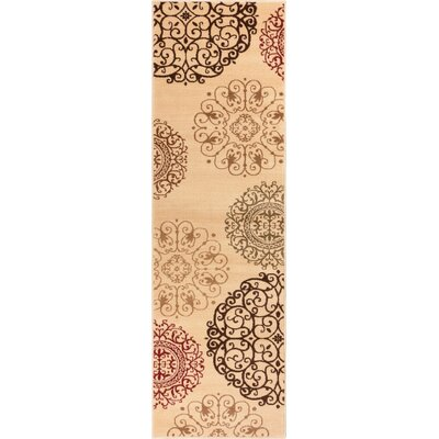 Wallaby Velvet Orchid Ivory & Multi Area Rug Rug Size: Runner 23 x 73
