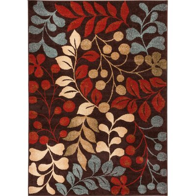 Sydney Warwick Floral Brown Area Rug Rug Size: Rectangle 23 x 311