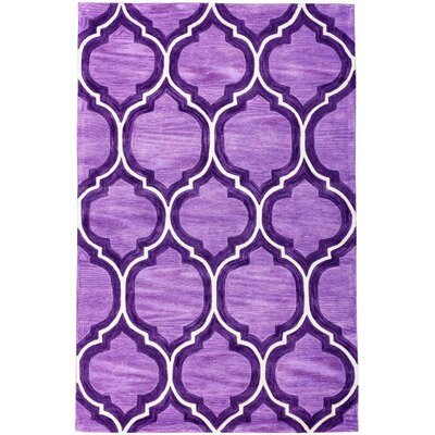 Expressions Wallaby Lattice Plum Purple Area Rug Rug Size: Rectangle 5 x 76