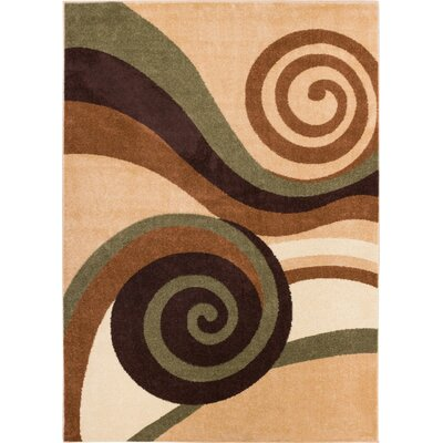 Sydney Zugilly Green Area Rug Rug Size: 53 x 73
