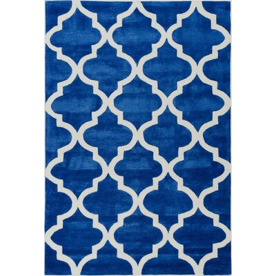 Mirage Lattice Navy Area Rug Rug Size: Rectangle 5 x 76
