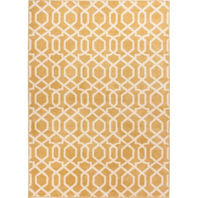 Sydney Geo Helix Gold Area Rug Rug Size: Rectangle 53 x 73