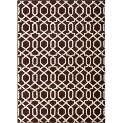 Sydney Geo Helix Brown Area Rug Rug Size: Rectangle 53 x 73