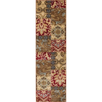 Wallaby Daisy Dream Brown Area Rug Rug Size: Runner 27 x 12