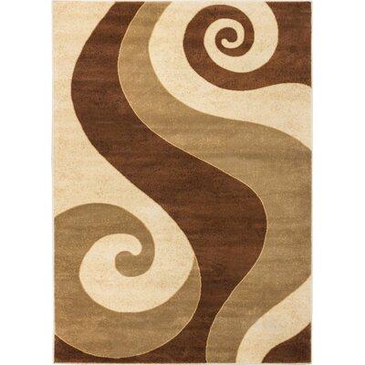 Wallaby Kimono Brown Area Rug Rug Size: 710 x 106