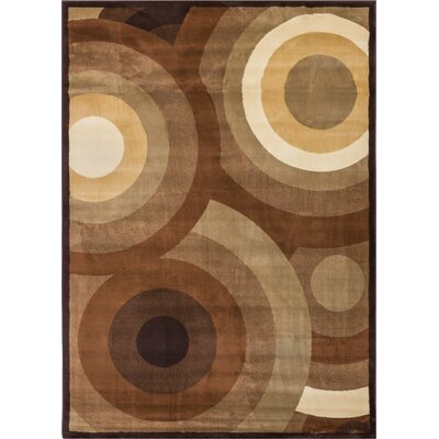 Wallaby Gala Geometric Brown Area Rug Rug Size: 710 x 106