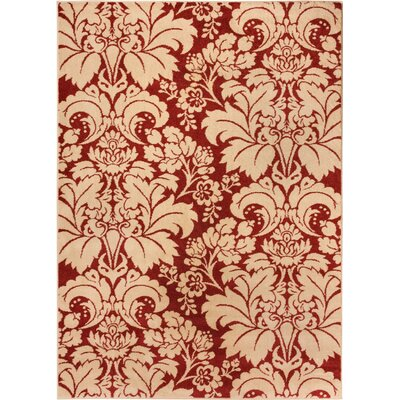 Sydney Damask Toile Autumn Area Rug Rug Size: 53 x 73