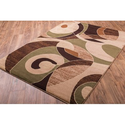 Alicea Zen Green/Brown Area Rug Rug Size: Rectangle 33 x 47
