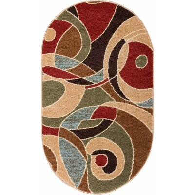 Sydney Zen Autumn Area Rug Rug Size: Rectangle 53 x 73