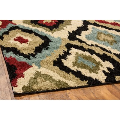 Avenue Bliss Ikat Ivory Area Rug Rug Size: Rectangle 82 x 910