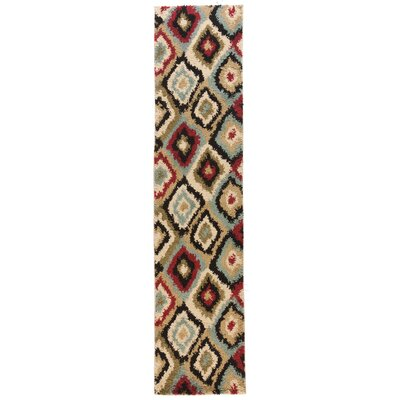 Avenue Bliss Ikat Ivory Area Rug Rug Size: Runner 18 x 72