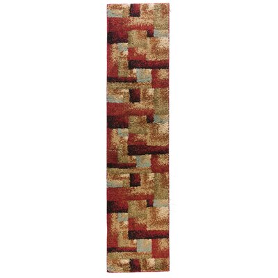 Avenue Sunrise Squares Ivory Area Rug Rug Size: Runner 18 x 72