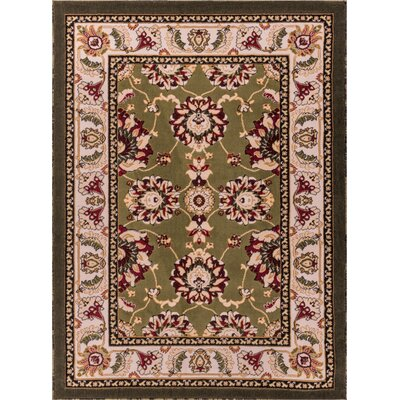 Dulcet Alana Green/Beige Area Rug Rug Size: 27 x 311