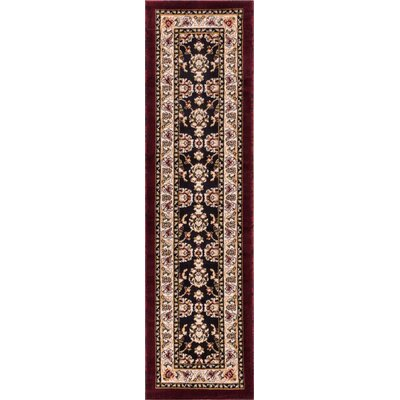 Dulcet Alana Black/Brown Area Rug Rug Size: Runner 2 x 73