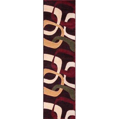 Dulcet Mario Rings Black Area Rug Rug Size: Runner 2 x 73